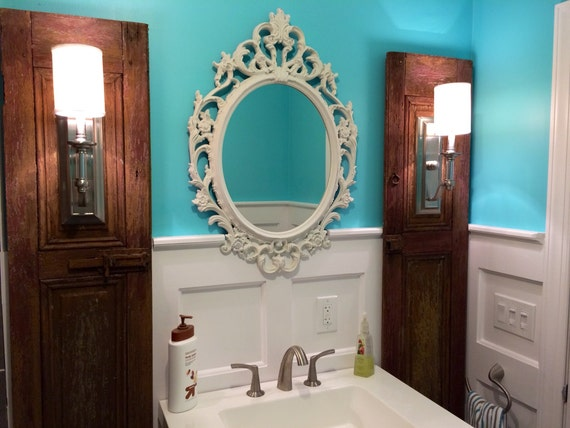 Baroque mirror bathroom mirror ornate shabby by farmhousefare for Baroque bathroom mirror