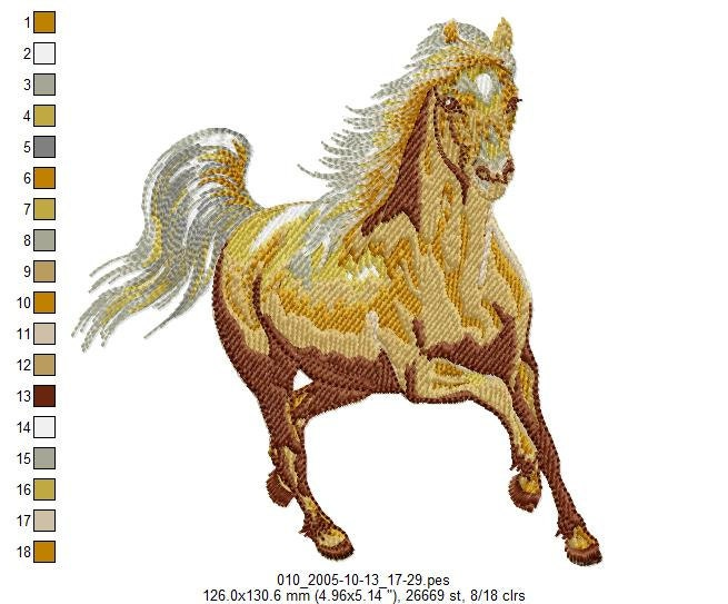 Wild winged horses machine embroidery designs by bestdesigns