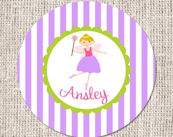 "Purple Fairy Princess 10"" Melamine Plate"