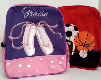 Kids Monogramed Backpacks