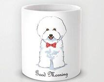 Personalized mug cup designed PinkMugNY - Bichon Frisé