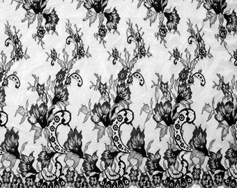 """3 Yards*59"""" eyelash lily lace fabric  , Eyelash Lace Trim in white For Wedding, Lingerie fabric black lace trim,white lace ribbon"""
