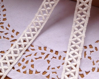 Vintage Cotton Lace trim Hollow out Lace Trims 1.5cm Wide sell by yard