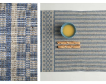 Hand-weaved Table Placemat {Nordic / light blue}