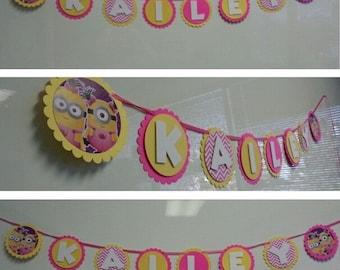 Minions Name birthday banner