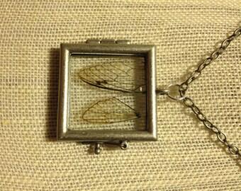 Cicada Wing Shadow Box Locket