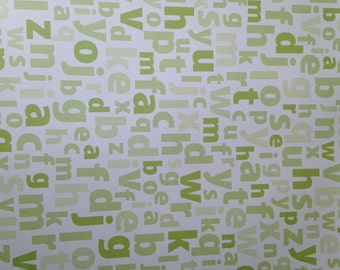 12x12 Lime Green ABC Paper