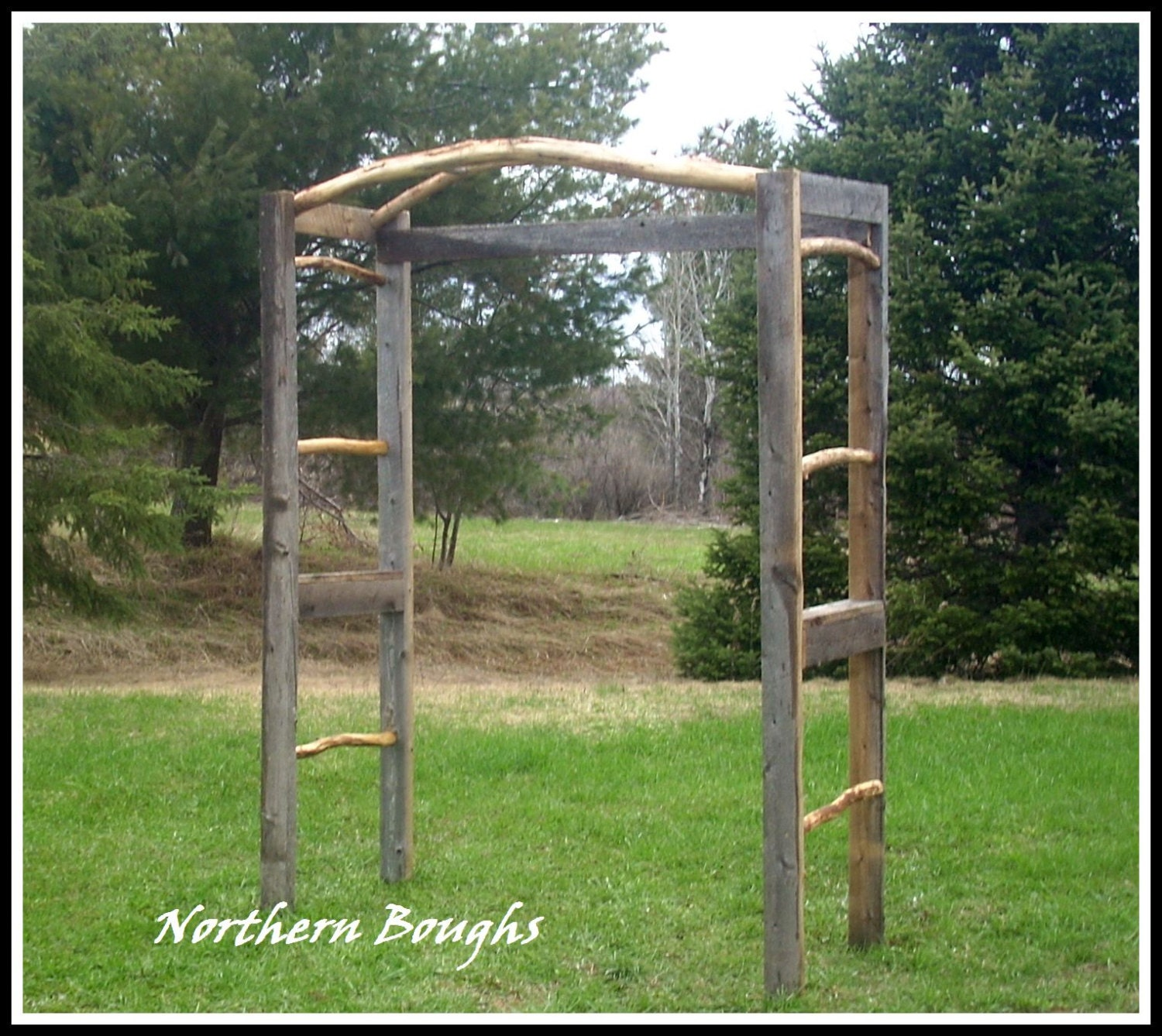 Country Wedding Arches: Items Similar To Weathered White Cedar Rustic Wedding Arch