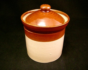 1970's Pearsons Pottery Stoneware Lidded Canister