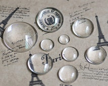 10pcs 16mm Round Clear Glass Domes Cabochon Circle Domed Magnifying Glass Cabochon【USD0.89/10pcs】Cabochon loupe DIY glass for photo necklace