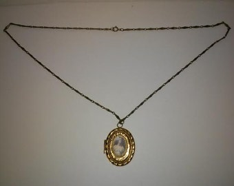 CLEARANCE FOR CHARITY Vintage 1940's Gold Locket Necklace