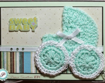 Baby Carriage Crochet Applique PATTERN