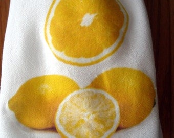 Flour Sack Kitchen Towel (Lemons)
