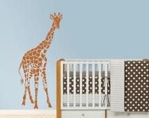 Giraffe decal, Giraffe Silhouette, Safari decal, Nursery decal