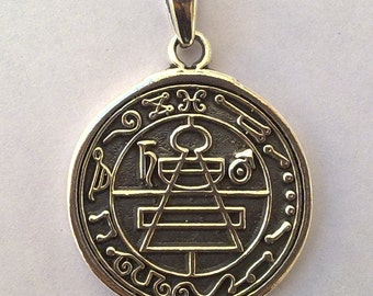 Secret Seal of King Solomon Pendant Sterling Silver 925