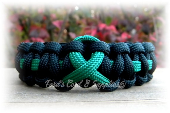Green Awareness Ribbon Bracelet Paracord By