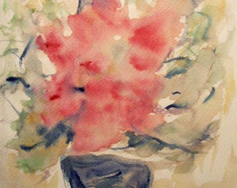 Flower Painting, Watercolor Flower Painting, Roses, Flowers, Contemporary Art, Modern Painting, Modern Art, Still Life