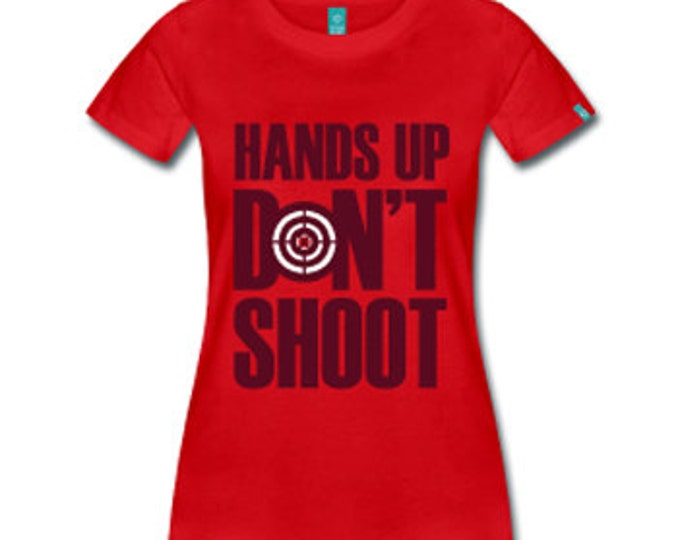 Hands Up Don't Shoot Women's Fitted T-Shirt - Red