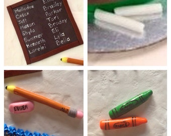 School Supply Cake Topper