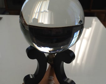 Baccarat Crystal Ball and Stand