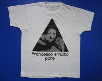 """Francesco Smalto Paris """"You Make Me Weak."""" T-Shirt Vintage 1980s XL"""