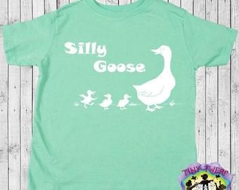 Silly Goose Boys T-Shirt, Girls T-Shirt, Boy Tees, Girls Tees, Cute Children's Clothes, Funny Kids T-Shirts, Toddler Shirts, Kids Goose Tee