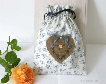 Drawstring bag  Linen and Cotton Gift Bag Cotton bag Favor Bag  Drawstring Pouch Wedding favor Gift for her