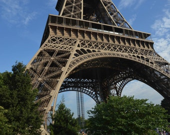 Paris Photography, French Decor, Paris Decor, Paris Icon, Eiffel Tower, Blue, Blue Sky
