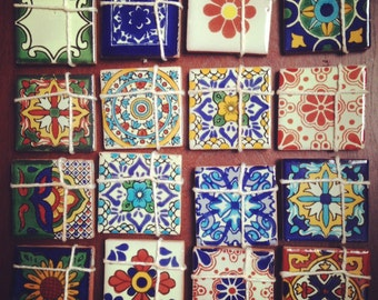 """200 Spanish / Mexican Style Tiles - Personalized Wedding Favors Unique Gift (4x4"""")"""