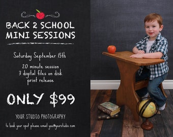 Mini Session, Back to School Mini Session Back to school Template, School Flyer, Mini Session Template, Flyer Template,