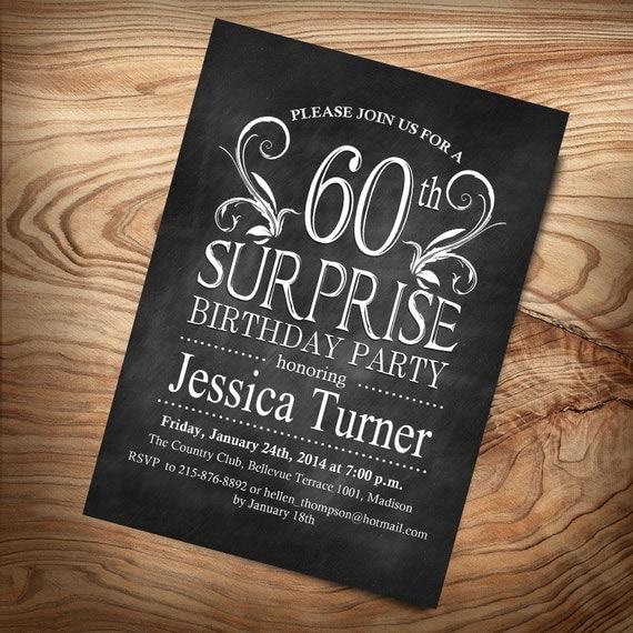 Items Similar To 60th Surprise Birthday Invitation / DIY