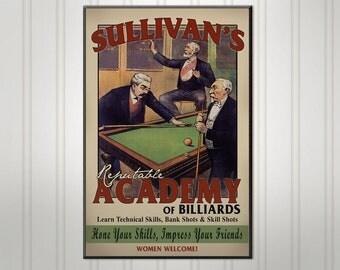 """Large Personalized Pool Hall Sign, Personalized Sign, Personalized Man Cave Bar Sign, Pub Sign, 18"""" x 24"""""""