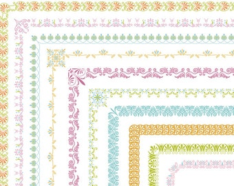 Instant Download 10 Full Page Digital Border Clip Art Flourish Swirl Border Clipart Scrapbooking Border Element Digital Swirl Border 0308
