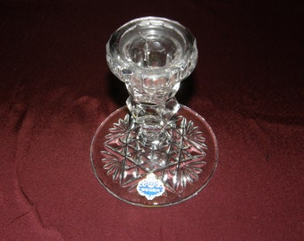 BEYER - BLEIKRISTALL Crystal Candle Holder - West Germany