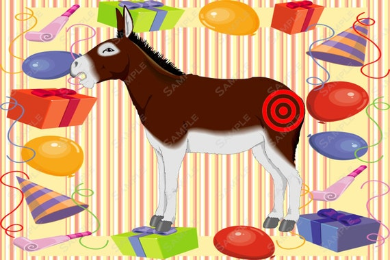 Pin The Tail On The Donkey Printable Pin The Tail On The