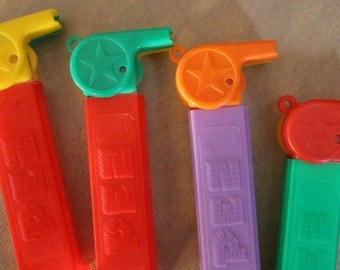 Set of 8 Coach Whistle Pez Dispensers