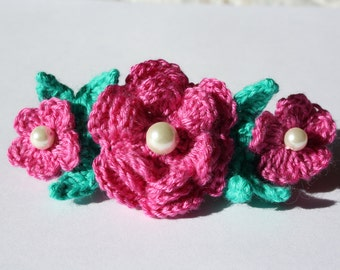Crochet Flowers Hair Clip Hair Barrette
