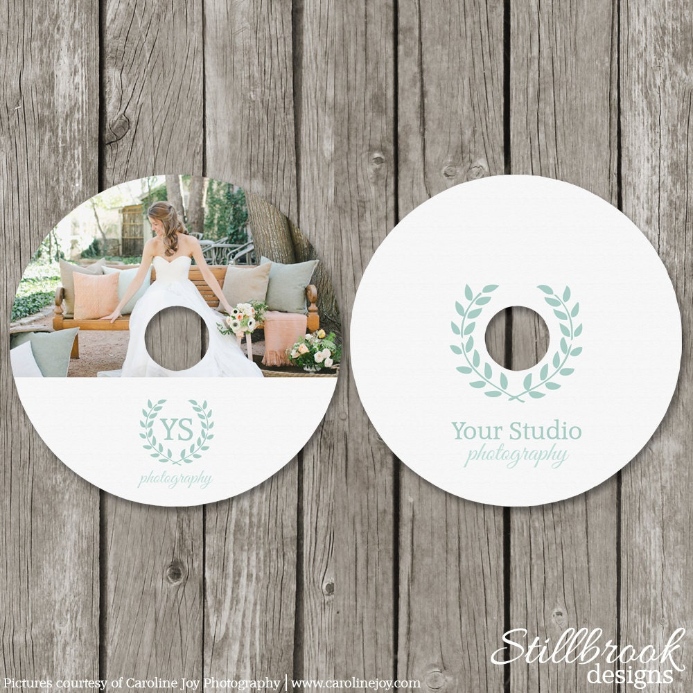 CD Label Template Wedding Photography DVD Labels