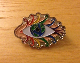 Grateful Dead Pin - Rainbow Eyes Of The World