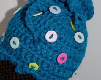 15% Off With Coupon Code DISCOUNT15 Crochet Cupcake Purse, Crochet Cupcake Bag