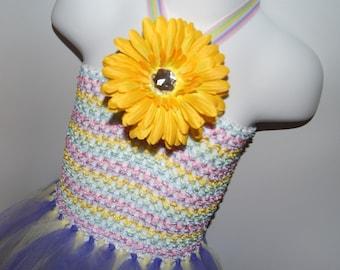 15% Off With Coupon Code DISCOUNT15 Childs Tutu Dress, Purple and Yellow Tutu, Tutu