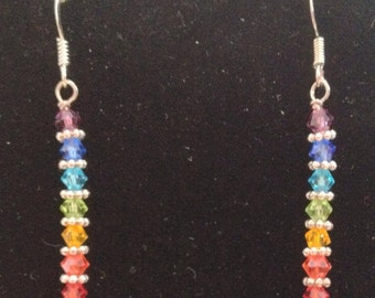 Rainbow colored Earrings