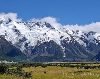 Mount Cook - Landscape Photography, New Zealand Photography, Travel Photography, Home Decor, Cool Home Decor, Fine Art Print