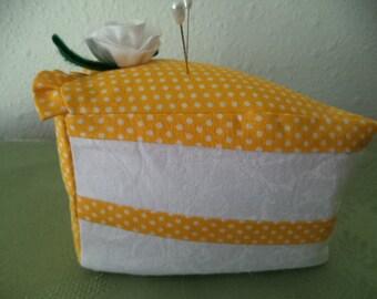 Lemon Piece of Cake Pincushion