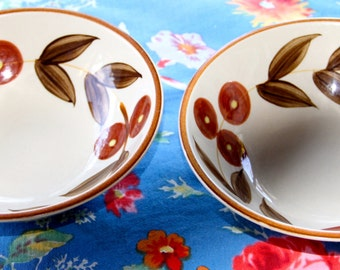 Vintage 1970's Moyoyama Stoneware Bowls (2)