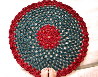 Trapillo rug crochet openwork