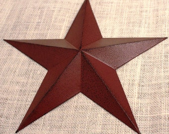 "11"" Large Metal Tin Barn Star - Wall Decor"