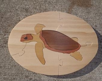 Handmade Sea Turtle Wooden Jigsaw