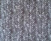 Herringbone - Charcoal - 100% Cotton Flannel