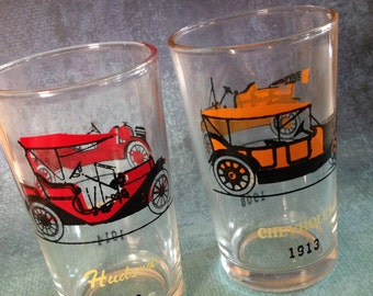 Pair of vintage automobile small glasses